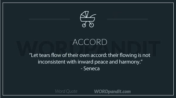 sentence/quote for accord