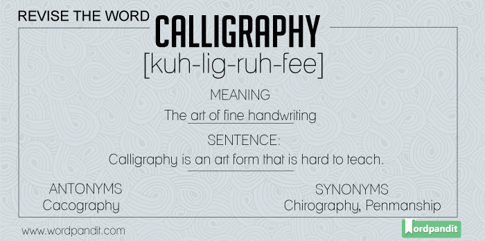 Meaning Picture Sentence For Calligraphy